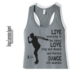 Women Dance TEAM ARCROSS82 Black Print Tank